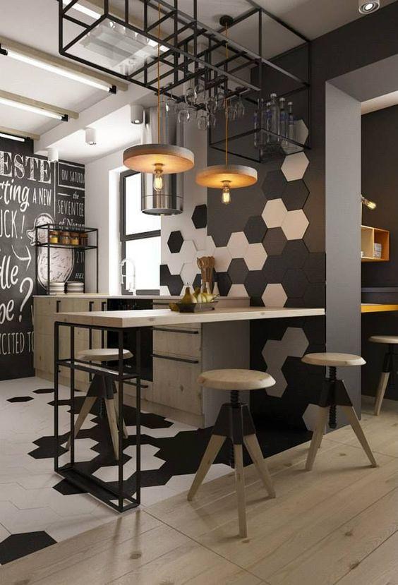 Espaço integrado para decoração industrial