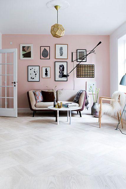 Sala com cor rosa pessêgo