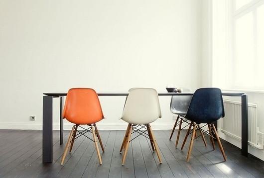 Decoração de cozinha com cadeira Eames