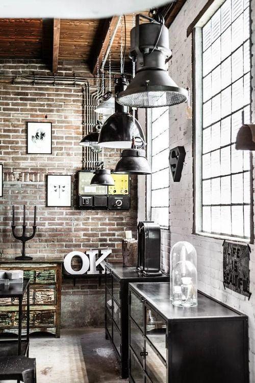 Luminaria com decoração industrial