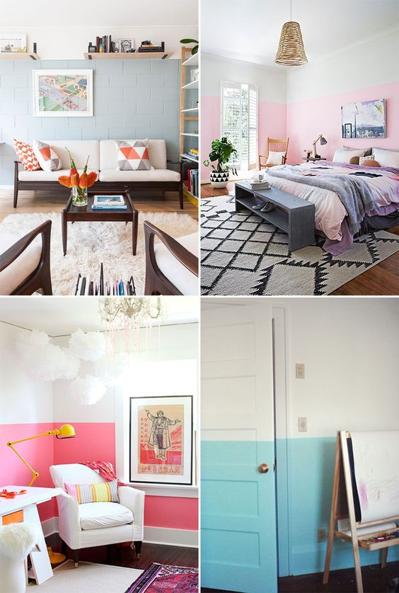 Dicas de pintura de parede moderno para quartos e salas