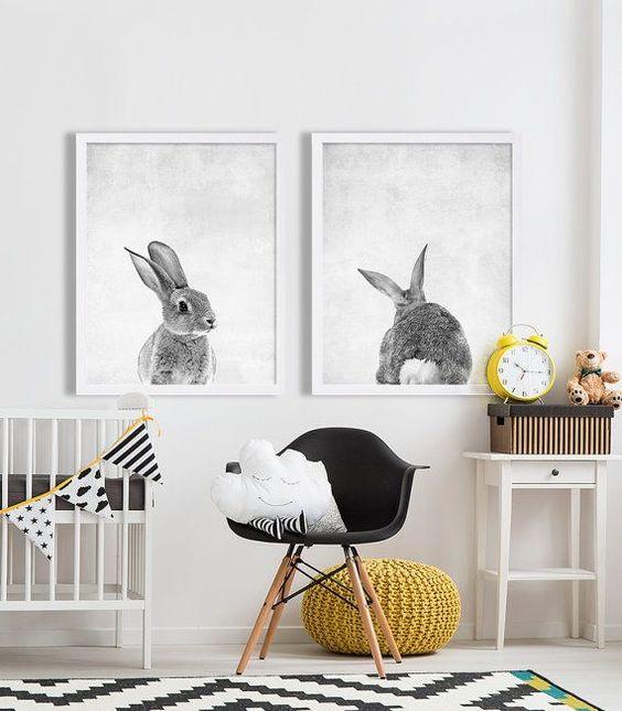 Quadros para quarto de bebé