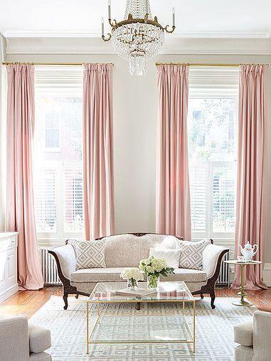 Altura ideal para as cortinas