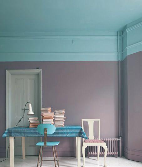 Parede da sala pintada pela metade