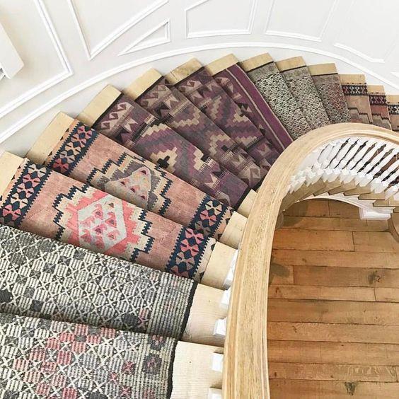 Tapete na escada