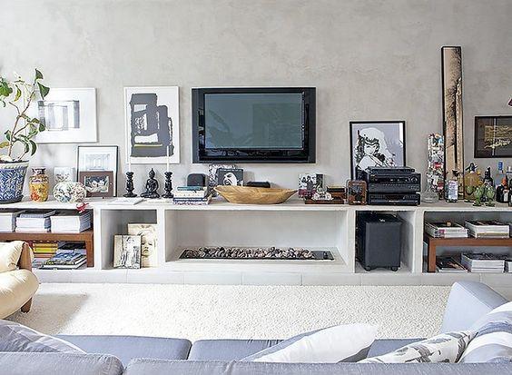 Como decorar o rack da TV