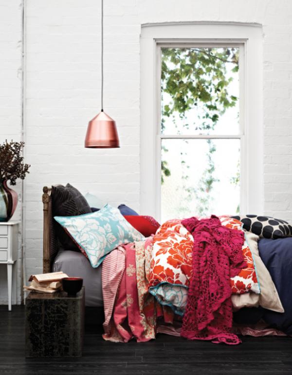 Decoração com estampas nas almofadas