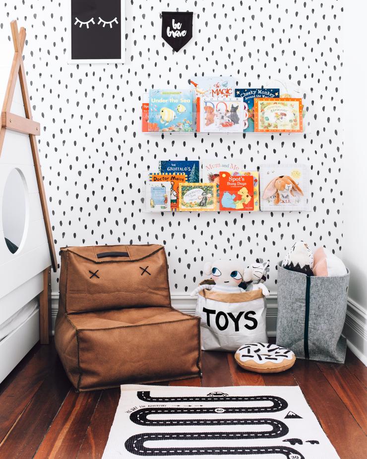 Cestos de tecido quarto infantil
