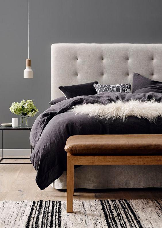 Cabeceira de cama clássica