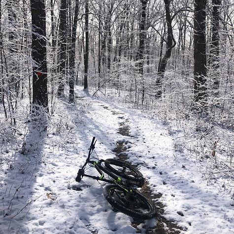 Biking Wolf Creek Trail in February with