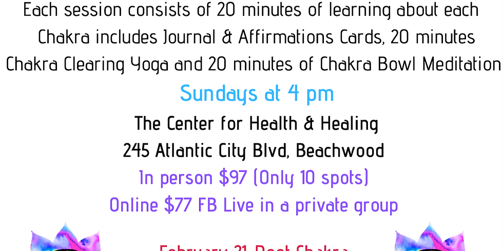CHAKRA HEALING COURSE (7-week Series)