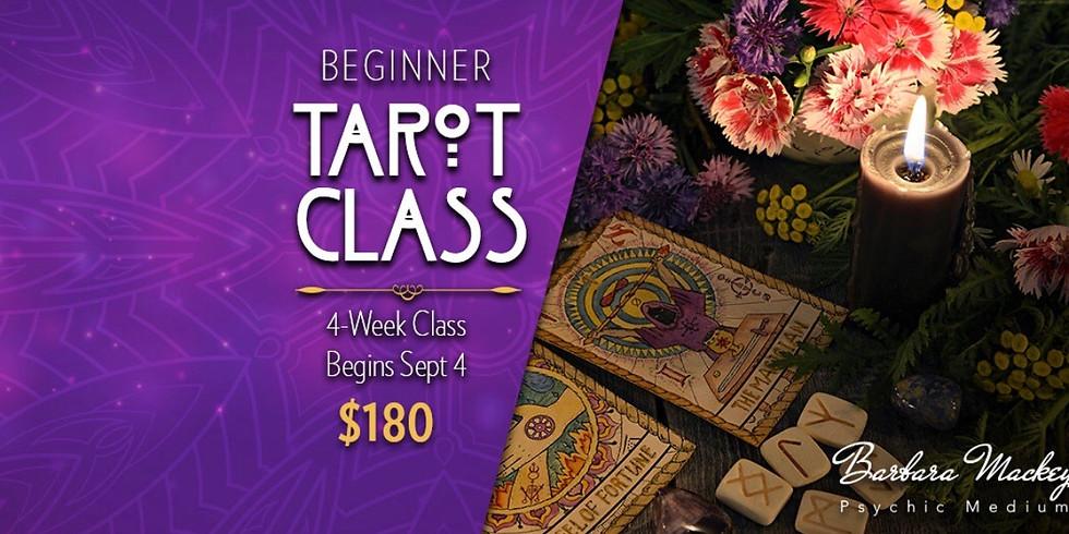 4-week Learning the Tarot Beginner Class with Psychic Barbara Mackey
