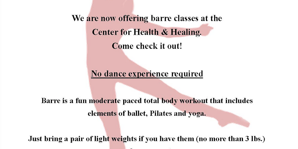 """""""Introduction to Barre"""" FREE CLASS"""