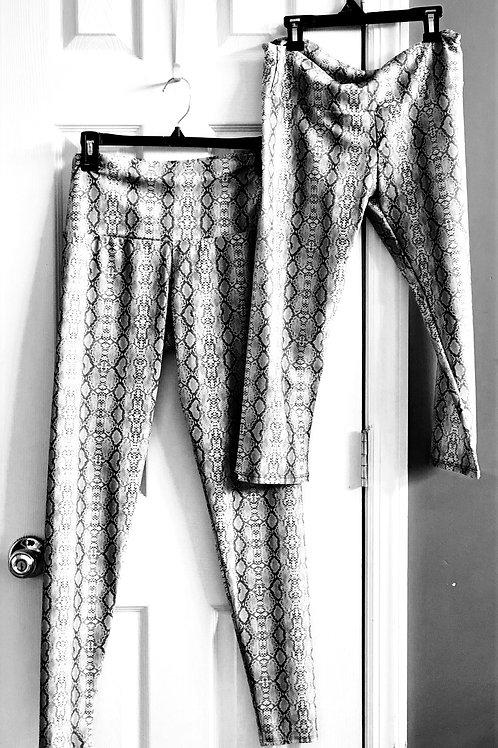 82% polyester 18% spandex grey snakeskin look