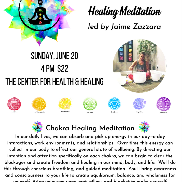 Chakra Bowl Sound Healing Meditation led by Jaime Zazzara
