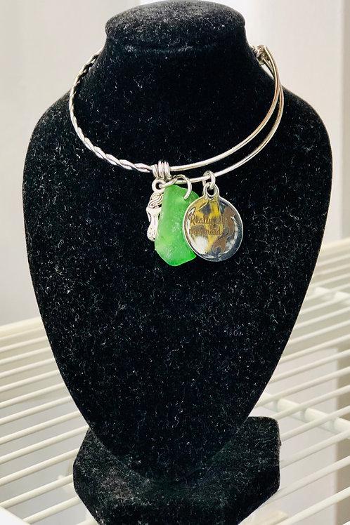 3 charm silver metal bracelet