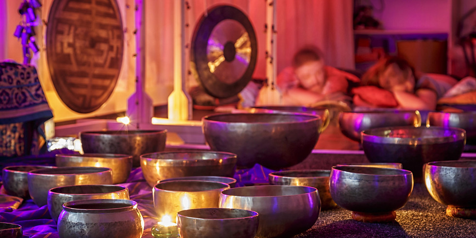 Singing bowls and restoraitive yoga