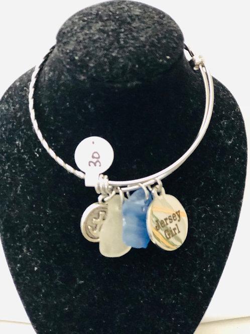 Silver metal bracelet jersey girl sale price $20
