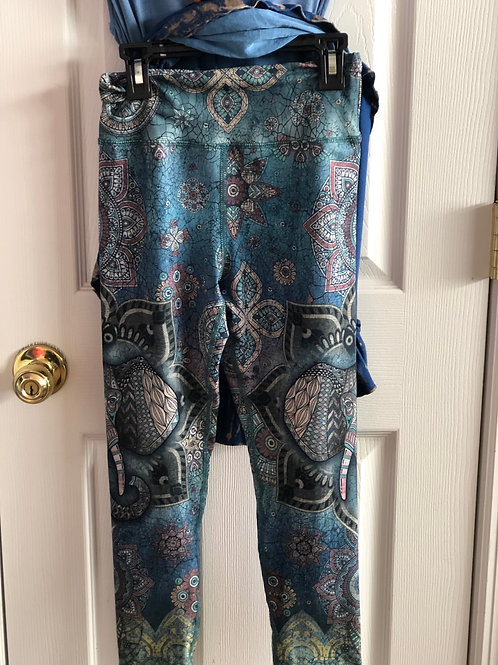 capri leggings blue