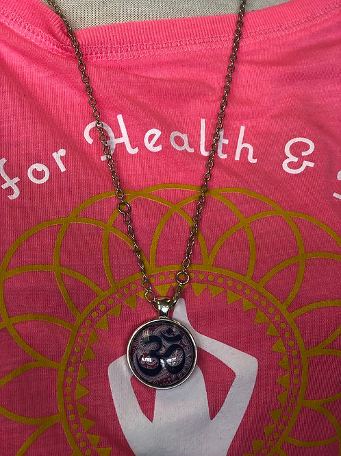 Om necklace with chain