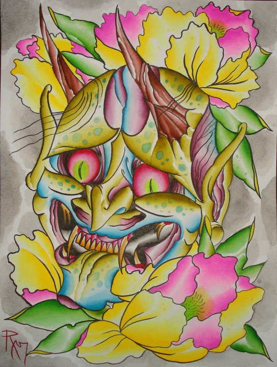 Monster With Peony Flowers