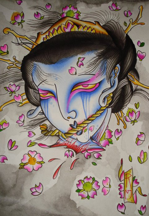 Severed Geisha Head
