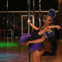 Future pole dancer 💕 kid classes coming soon! #mommyandme #futurepoledancer #polefelonyfitness #pol