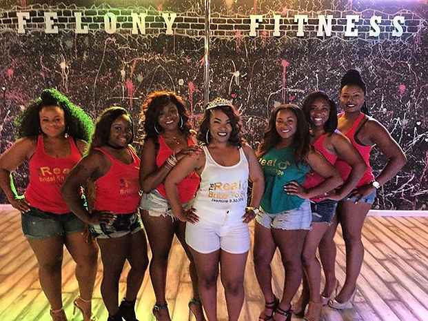 Yesterday's beautiful bachelorette party from Texas!! #PoleFelonyFitness #poleparty #bachelorettepar