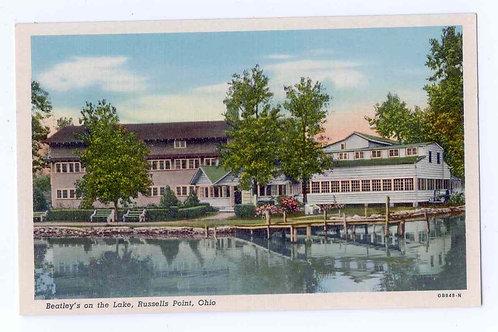 Postcard OB848-N Beatley's on the Lake Resort -Original