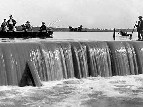 Postcards SW, Indian Lake Spillway -LCHS Reproduction