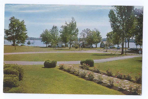 Postcard 34900B, Wicker Cottages on Orchard Island -Original