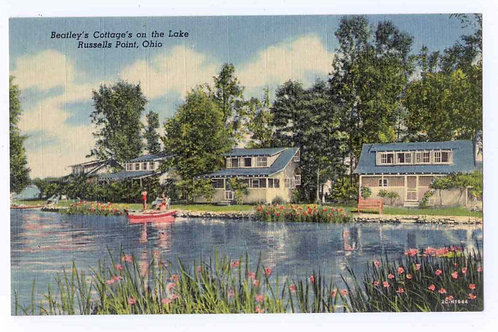 Postcard 2C-H1644 Beatley Cottages from the Lake -Original