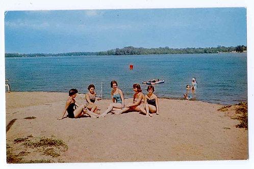 Postcard 34899B, At the Beach at Wicker Resort -Original