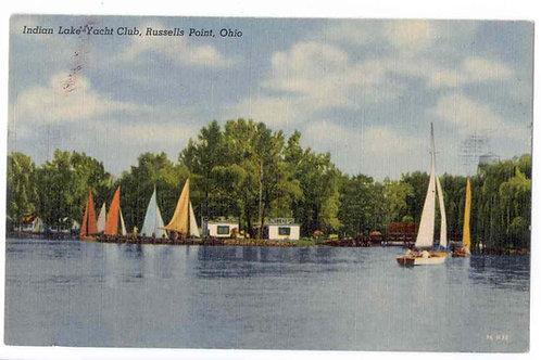 Postcard 7C-H32 Indian Lake Yacht Club, Beatley's -Original
