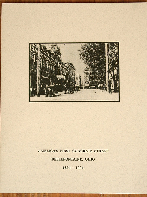 America's First Concrete Street 1891-1991 -Softback
