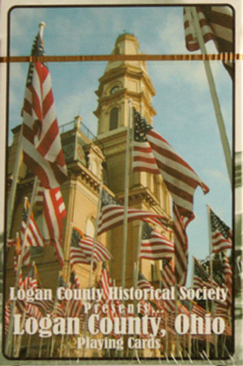 Logan County Playing Cards, Courthouse - w Historic Photos