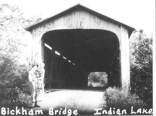Postcard BB, Bickham Bridge at Indian Lake -LCHS Reproduction