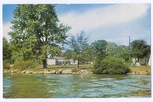 Postcard 34898B, Wicker Hotel from Lake, Orchard Island -Original