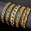 Mens-Gold-Chain-Men-Bracelet-Cuban-Link-
