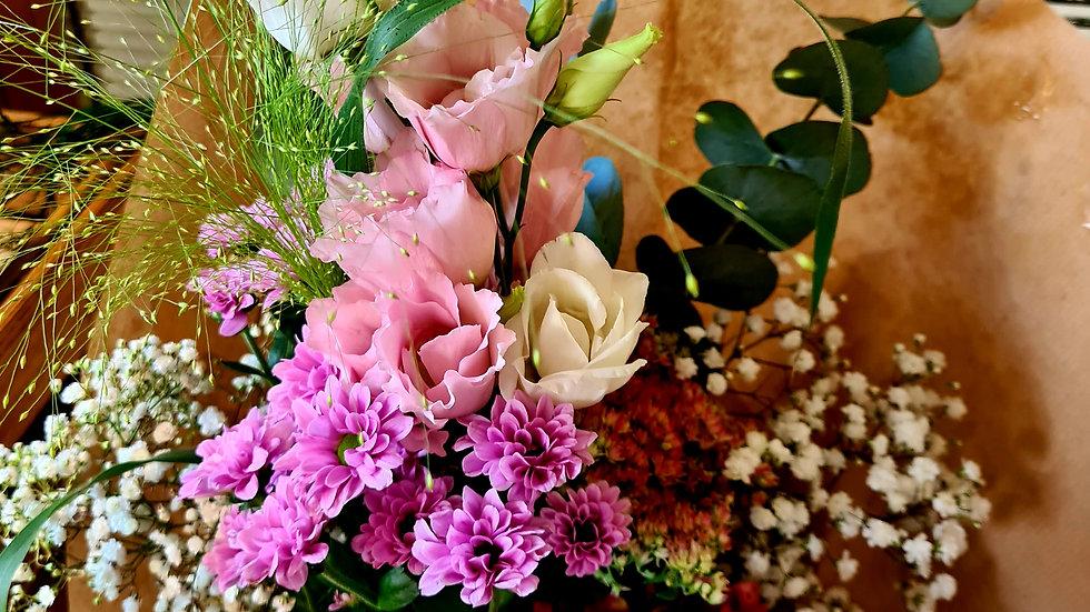 """Aktionsstrauß """"pink"""" inkl. Vase"""