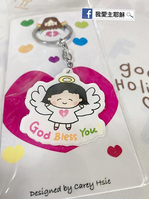 天使鎖匙扣angel keychain