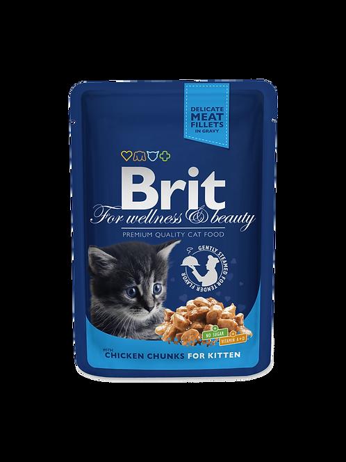 Brit Premium Chicken Chunks for Kitten.