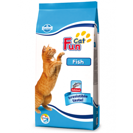Fun Cat Fish Полноценный и сбалансированный корм для взрослых кошек. 20кг
