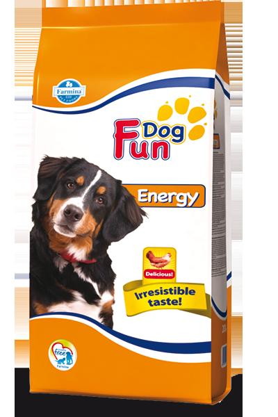 Fun Dog ENERGY ADULT Полнорационный и сбалансированный корм для собак 20кг
