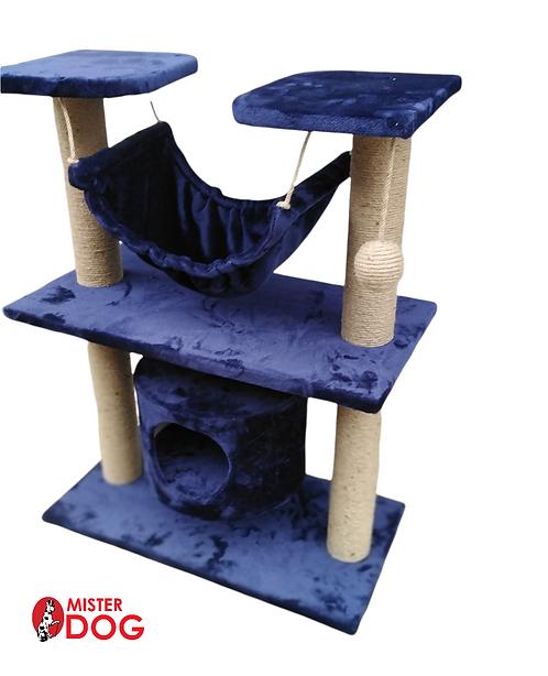 Игровой комплекс для кошек с гамаком и домиком, 95см