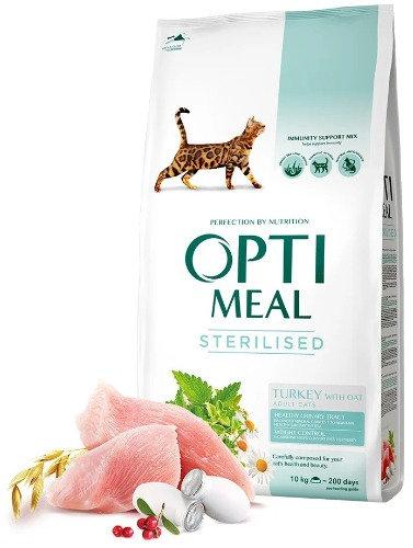 OPTI MEAL Корм для стерилизованных кошек Индейка и овёс