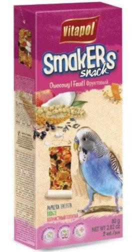 Лакомство Vitapol Smakers STANDARD с фруктами для волнистых попугаев