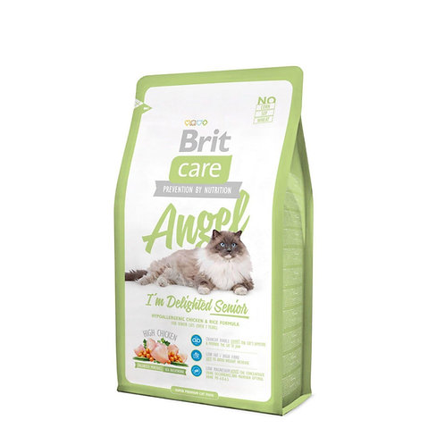 Brit Care Angel Delighted Senior с курицей и рисом для кошек старше 7 лет.