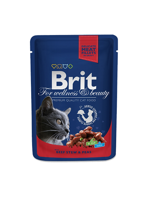 Brit Premium with Beef Stew & Peas.