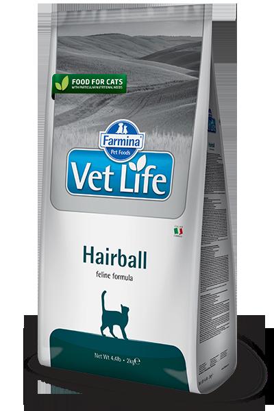 Vet Life Hairball Выведение шерстяных комочков 2кг